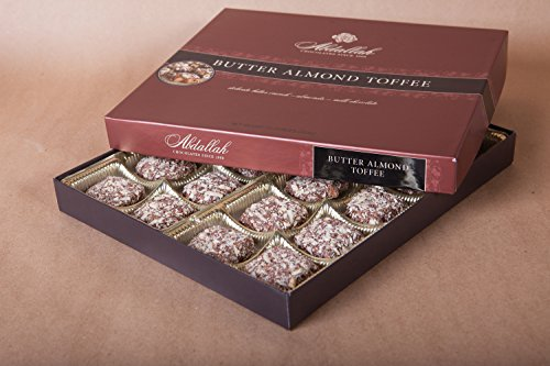 Milk Chocolate Butter Almond Toffee - Abdallah Chocolates Butter Almond Toffee 13 oz.