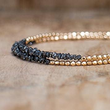 Bracelet homme diamant brut