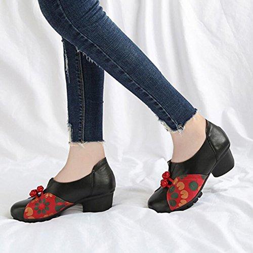 a per Pelle a Passeggio Spillo Scarpe Donna Tacco Scarpe in da Dimensione da Fatte Donna Scarpe Donna 38 Mano da Colore B 6wqaPn