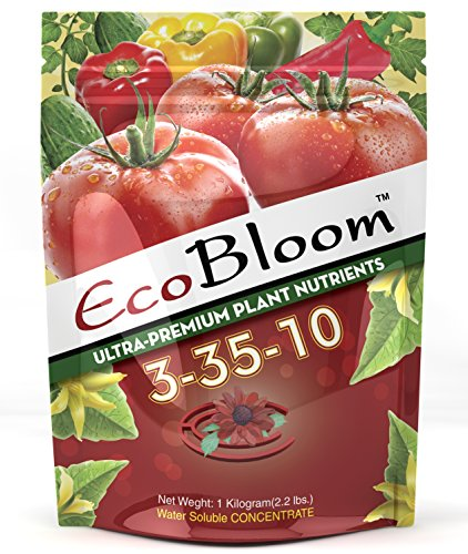 EcoBloom 3-35-10 - Premium Plant Food for High Yield Flowering - 1kg (2.2 lbs) by EcoBloom