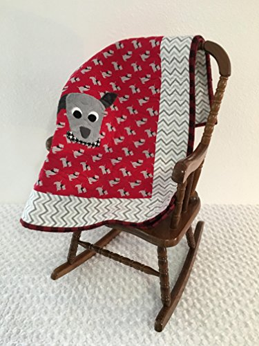 Small Red Dog Applique Quilt