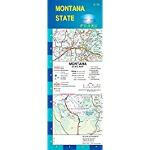 Montana State Pearl Map (Laminated)