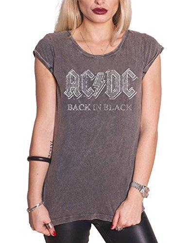 Ac/Dc T Shirt Womens Back