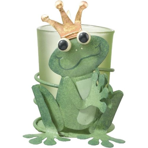 Votive Tealight Candle Holder Bugs & Birds Frog Prince - Regal Art #05264