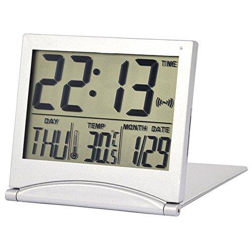 New Digital Lcd - BleuMoo New Desk Digital LCD Thermometer Calendar Alarm Clock With Flexible Cover