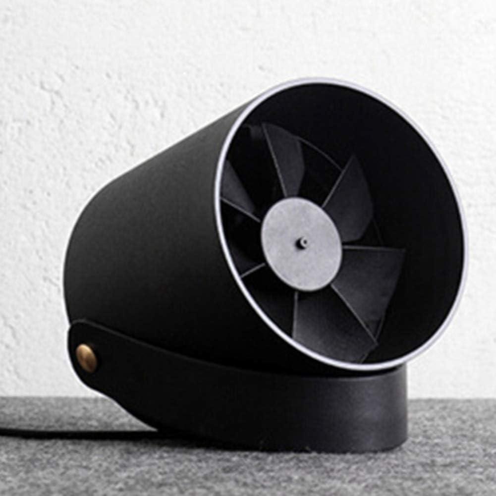 XKSIKjians Cooling Fans Portable Mini Fan Ventilator USB Ultra Quiet Touch Control Desktop Cooler Cool Summer Black