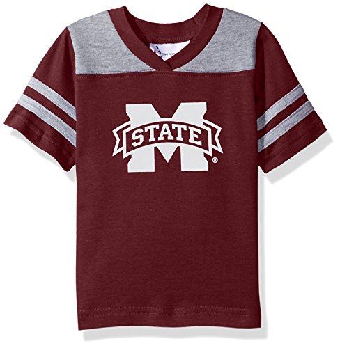NCAA Mississippi State Bulldogs Toddler Boys Football Shirt, Maroon, 4