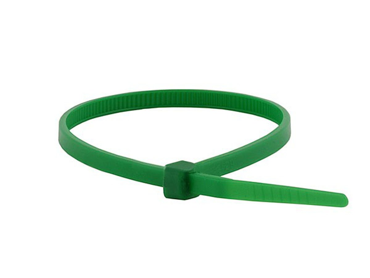 Monoprice Cable Tie 8 inch 40LBS 100pcs Pack Green