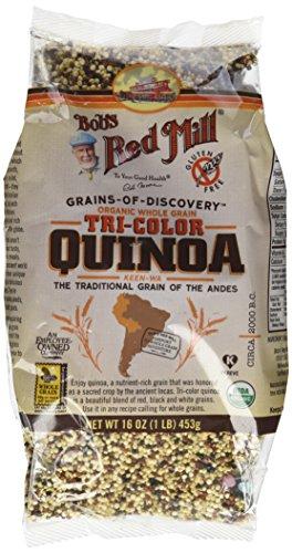 Organic Whole Grain Tri Color Quinoa Gluten Free 16 Ounces (Case of 4)