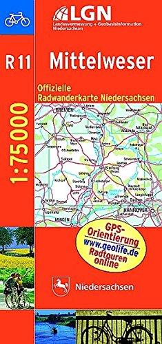 Topographische Sonderkarten Niedersachsen. Sonderblattschnitte auf der Grundlage der amtlichen topographischen Karten, meistens grösseres ... 1 : 75 000 mit Begleitheft / Mittelweser