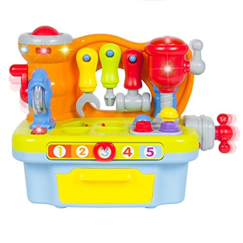 Best Choice Products Musical Learning Pretend Play Tool Workbench Toy, Fun Sound Effects & Lights