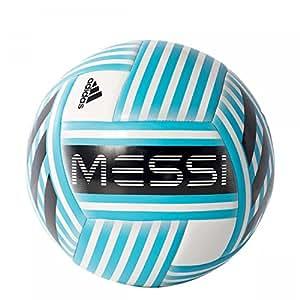 adidas Messi Glider Balón, Hombre, (Blanco/Azuene/Negro/grisua), 5