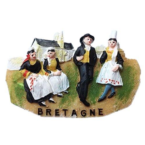 Brittany Francia resina 3d fuerte imán para nevera recuerdo ...
