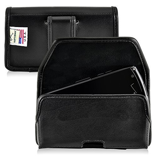 Kyocera Brigadier E6782 Holster, Turtleback Kyocera Brigadier E6782 Belt Case, Executive Metal Belt Clip, Black Leather Pouch, Horizontal Made in USA