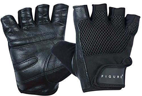 Cycling Gloves Premium (Best Workout Gloves for Men and Women to improve workouts. Premium Leather Quality and FREE Lifting Straps. Use for Weight Training, Biking and Cycling - Gym Gloves Gloves for Callus and Blisters.)