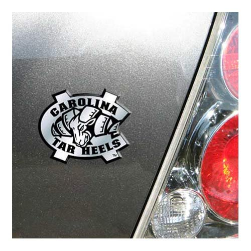 NCAA North Carolina Tar Heels Chrome Automobile Emblem