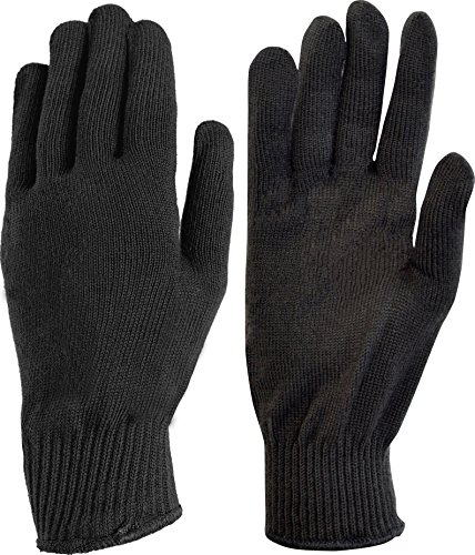 Auclair Unisex Polypro Winter Glove Liners: Large, Black (Polypro Glove Liner)