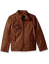Urban Republic Big Boys\' Ur Faux Leather Jacket, Cognac, 10/...