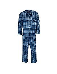 Hanes Mens Cotton Flannel Pajama Set