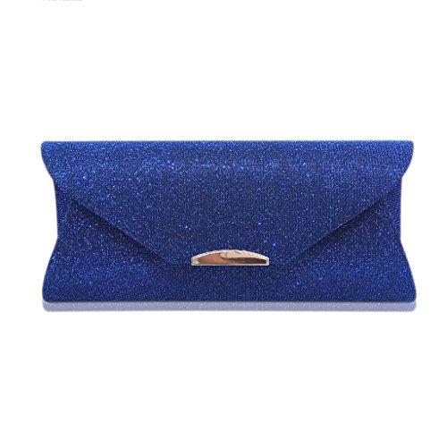 pour Handbag Bleu Handmade pochette Robe Envelope Handbag de mariage Wallet Wanfor femme pour Part Purse avec soirée Clutch wq0xET