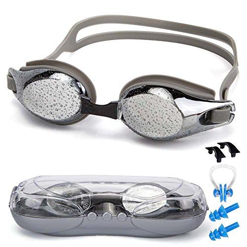f1b2f47529ef SIXBOX Swim Goggles leak free anti UV lens adjustable shoulder strap  Triathlon Swimming Goggles Anti fog nose clip
