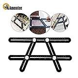 #1: Amenitee Universal Angularizer Ruler - Full Metal Multi Angle Measuring Tool-Ultimate  Template Tool-Upgraded Aluminum Alloy Multi Functional Ruler(Black)