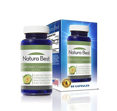Garcinia Cambogia - NaturaBest - 100% Garcinia PURE, 60 1000mg Capsules