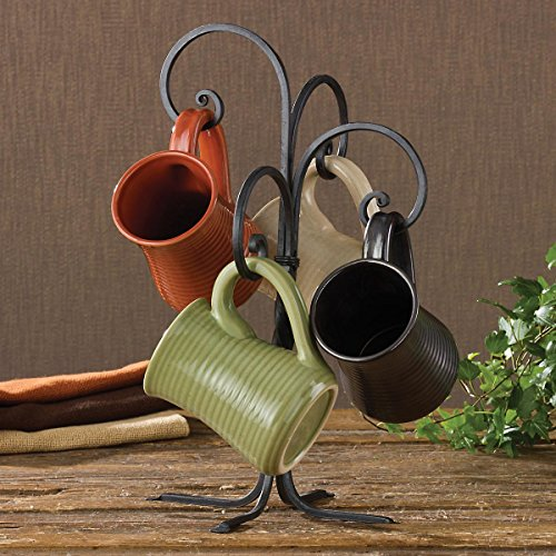Design Small Iron - Black Iron Scrolled Mug Rack By Park Designs