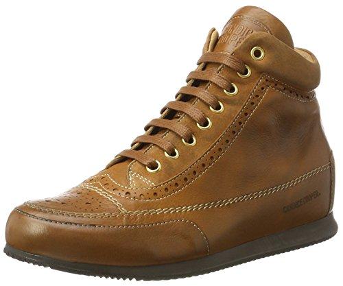 Candice Cooper Ladies Guanto Alta Sneaker Marrone (cuoio)