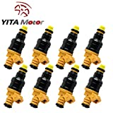 YITAMOTOR Fuel Injectors for Ford 4.6 5.0 5.4 5.8 EV1 Connector 4 Hole Flow Matched Fuel Injector OEM 0280150943 (Set Of 8)