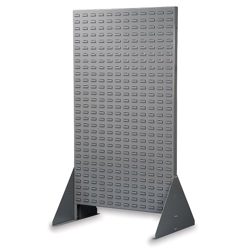 Akro-Mils Two-Sided Mobile Bin Racks With Louvered Panels - 36X20x60