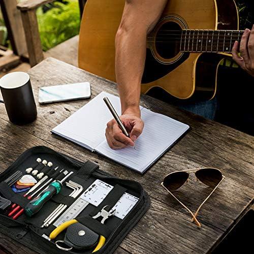 ammoon Kit Herramientas de Guitarra Mantenimiento de Reparación de ...