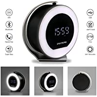 CLEARANCE SALE ! Wireless Bluetooth Speaker with FM Radio & AUX-Input,LED Night Light Bluetooth Speakers with 5W HD Sound Speaker & 2000mAh High Capacity Batt ,360 Degree Rotation by ENUOSUMA