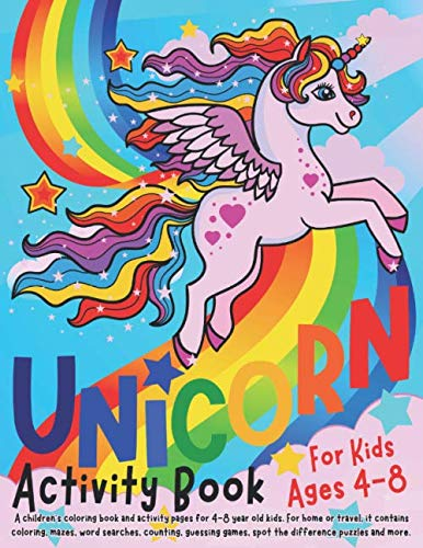 Unicorn Activity Book for Kids a...