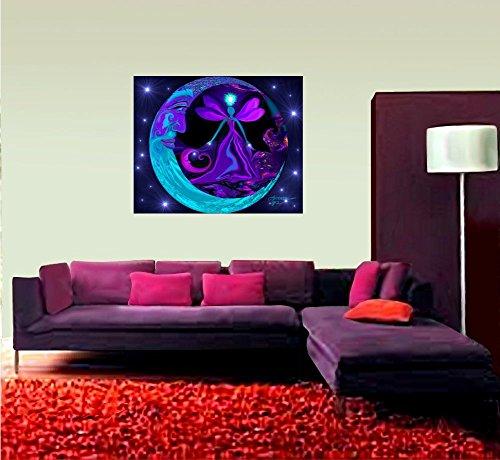 Amazon.com: Celestial Tapestry, Moon Wall Decor, Angel Wall Art ...