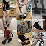 VIMISAOI Platform Mary Janes for Women, Ankle Strap