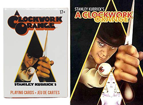 Playing with Alex & Kubrick A Clockwork Orange Movie DVD & Stanley Card Pack Theme Deck combo Acclaimed Film