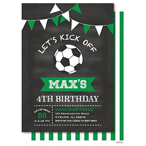 Amazon Com Soccer Ball Chalkboard Bunting Birthday Party
