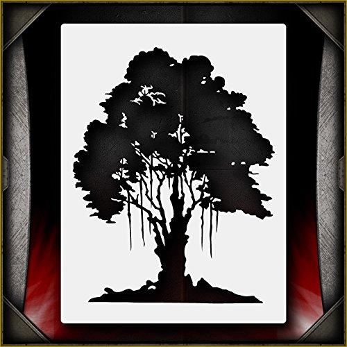 Oak Tree 1 AirSick Airbrush Stencil Template