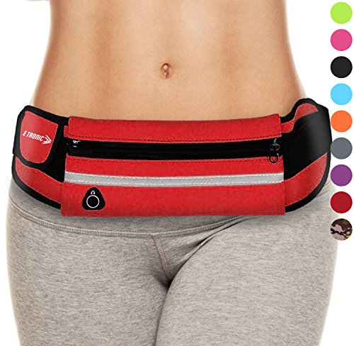 Running Belt for Phone: Waist Packs Best Comfortable Running Belts (Red) For All Phones Fanny Packs for Women And Running Accessories Workout Bag For Men. Running Pack Plus Size Exercise Pouch