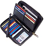 Chelmon Womens Wallet Genuine Leather RFID Blocking Purse Credit Card Clutch