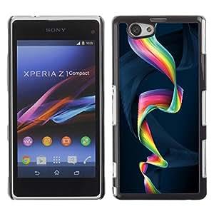 Be Good Phone Accessory // Dura Cáscara cubierta Protectora Caso Carcasa Funda de Protección para Sony Xperia Z1 Compact D5503 // Colorful Spiral