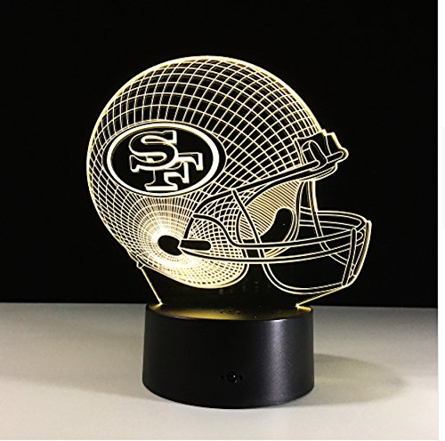 - Football Helmet Light - Touch Control Football Helmet Light- Upgraded Color Changing Touch Light - Night Light for Boys Men Women - Perfect Gift for Football Sports Lovers (San Francisco 49ers)