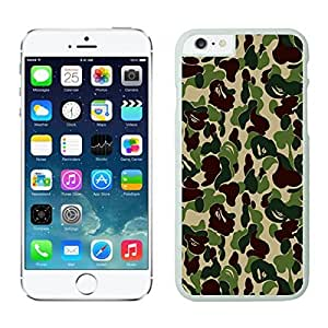 Soft Apple Iphone 6 Case 4.7 Inches, Coolest Camo Design Durable TPU White Cell Phone Case Cover for Iphone 6 Accessories