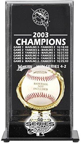 Florida Marlins Display Case (2003 Florida Marlins World Series Champs Display Case)