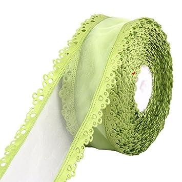 La Cinta de costura eDealMax Organza Silla de la boda Vestido de la Torta decoración de