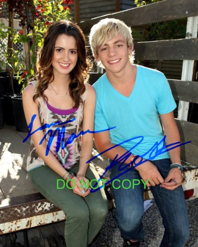 Austin & Ally reprint signed autographed photo #3 Ross Lynch Laura Marano RP R5