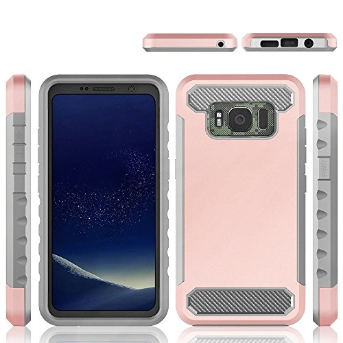 Price comparison product image TOTOOSE Samsung Galaxy S8 Active case,  Samsung Galaxy S8 Active Cover Back case Back case Grip Protective Armor Bumper Cover Back case Case for Samsung Galaxy S8 Active - Rose Gold