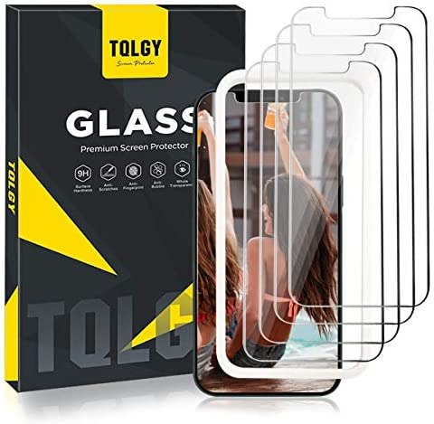 [4 Pack] TQLGY Screen Protector for iPhone 12 Pro Max 6.7″ 2020, 9H Hardness Tempered Glass for iPhone 12 Pro Max 6.7 – inch [Easy Installation Frame] HD Clear, Case Friendly, Anti-Scratch
