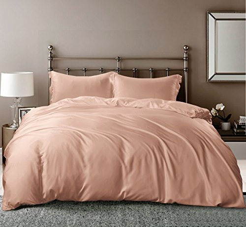 Linenwalas Luxury Bamboo Fibre Sheets I Rose Gold Queen Sheets I Softest Bedsheets and Pillow Ca ...